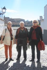 Gunilla, Maggan och Karin i Granada