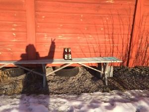 Ljugarbänken i sol (förra fredagen)